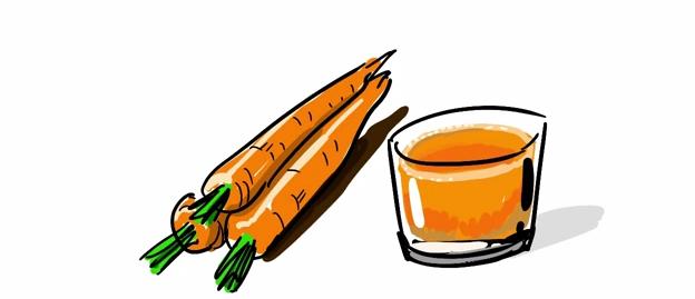 karottensaft lässt almased besser schmecken